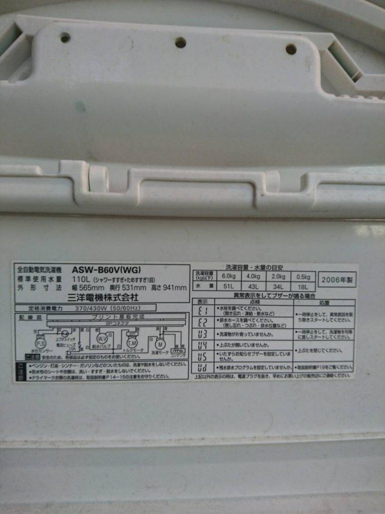 ASW-B60Vのスペック
