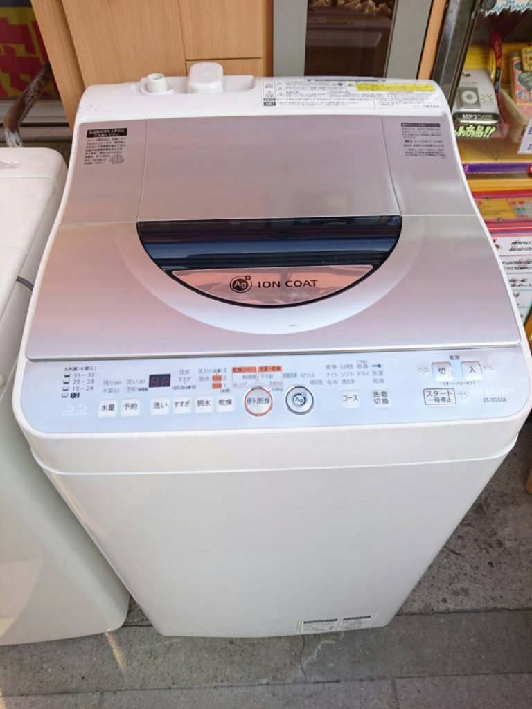 シャープ製の洗濯機【ES-TG55-S】