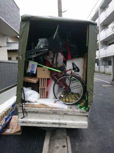 単身引っ越しの荷台