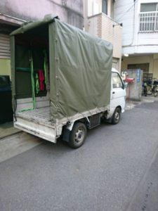 単身引っ越しのトラック