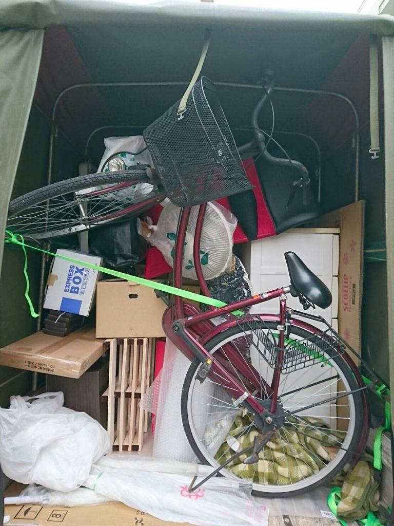 自転車などの荷物