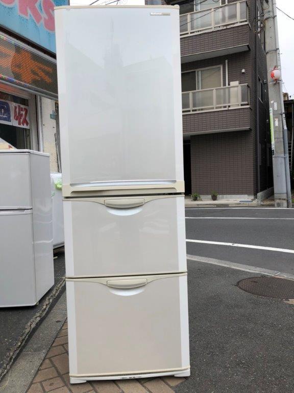 ナショナル製の3ドア冷蔵庫