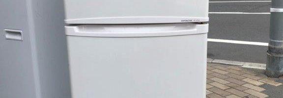 日立製の2ドア冷蔵庫(R-12TA)など不用品を格安回収 東京都板橋区成増にて家電品の回収処分
