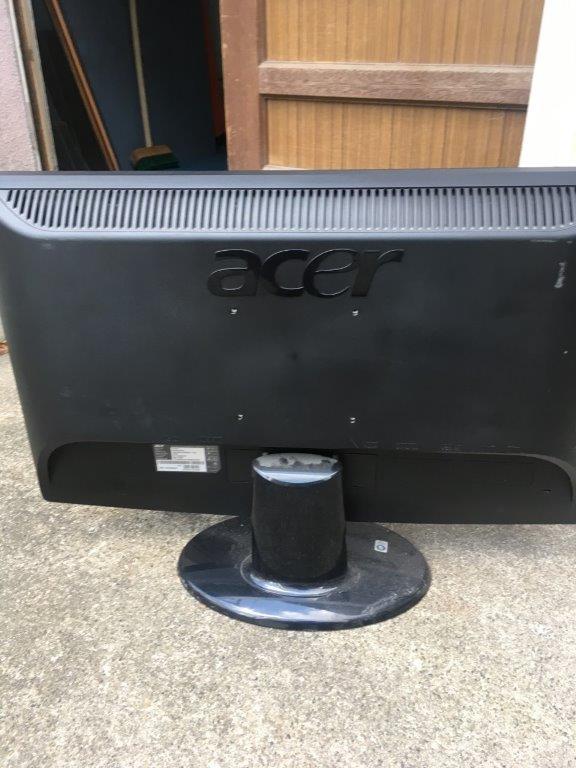 液晶テレビモニターの裏面