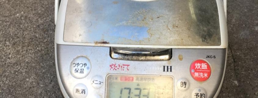 タイガー製の炊飯器