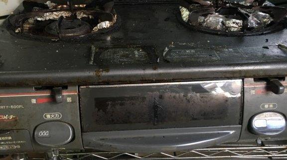 リンナイ製のガスコンロ