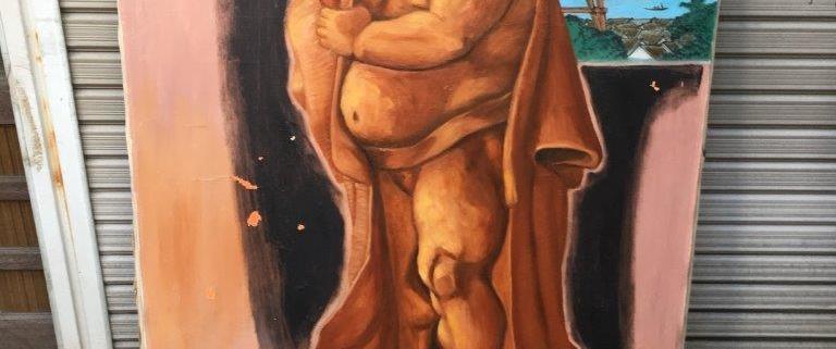 力士の絵画